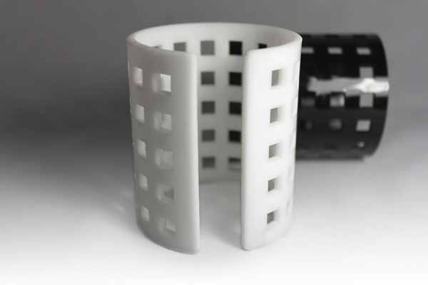 acrylic cuffs with cutouts
